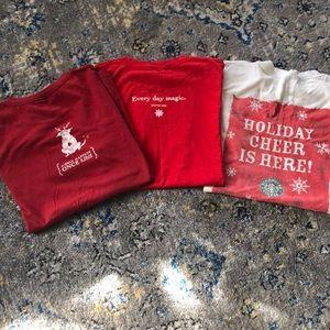 3 Starbucks Holiday T-Shirts